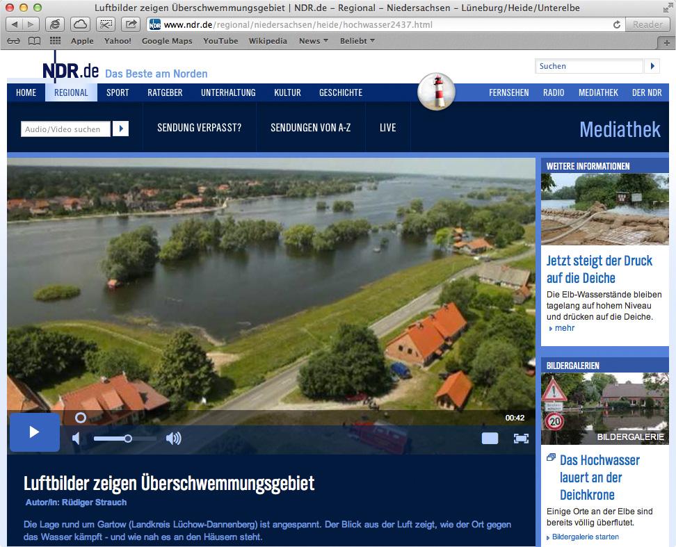 Luftbildaufnahmen aus Gartow